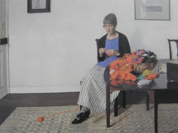 Coloured Wools | Harold Harvey | oil painting