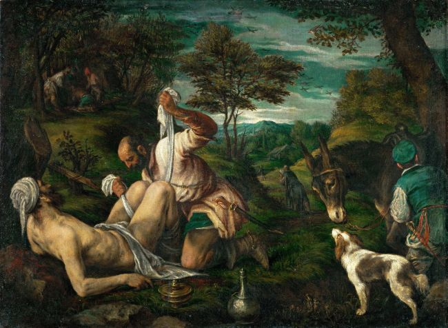 The Good Samaritan | Francesco da Ponte Bassano | oil painting