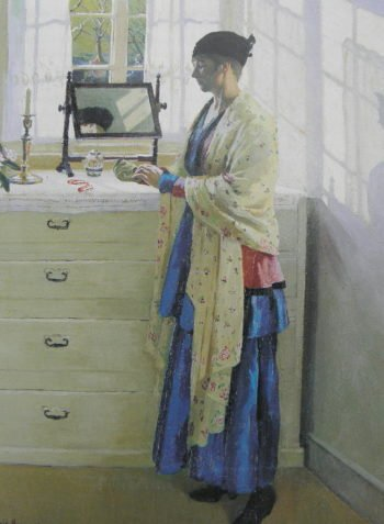 Blue Gown | Harold Harvey | oil painting