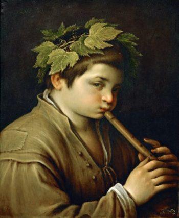Boy with Flute | Francesco Bassano II | oil painting