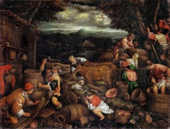 Autumn -Grape Harvest | Francesco Bassano II | oil painting