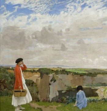 Blackberrying | Harold Harvey | oil painting