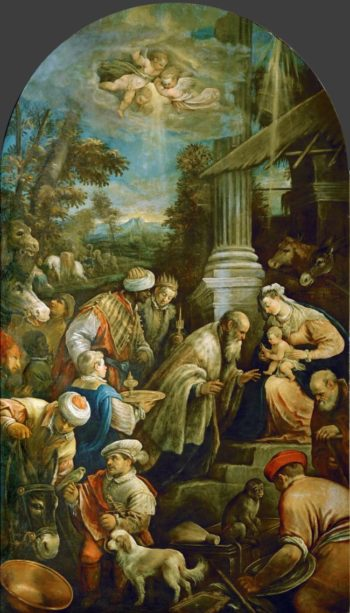 Adoration of the Magi | Francesco Bassano II | oil painting