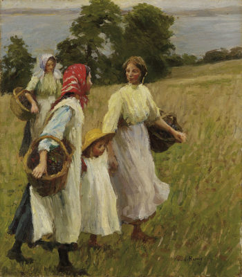 Blackberry Harvest | Harold Harvey | oil painting