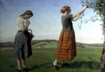 Blackbeeries | Harold Harvey | oil painting