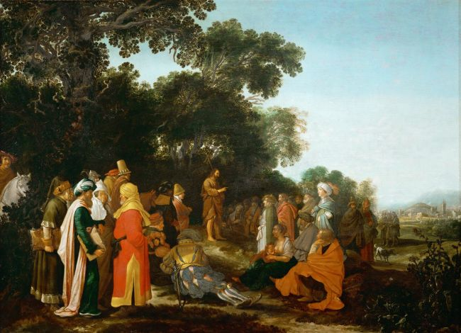 The Sermon of Saint John the Baptist | Esaias van de Velde I | oil painting