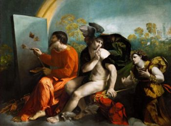 Jupiter Mercury and Virtus or Virgo | Dosso Dossi | oil painting