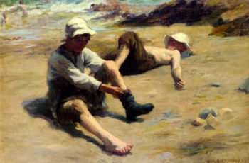 After The Swim | Harold Harvey | oil painting