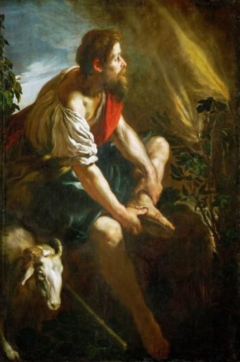 Moses and the Burning Bush | Domenico Fetti | oil painting