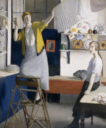 A Kitchen Interior | Harold Harvey | oil painting