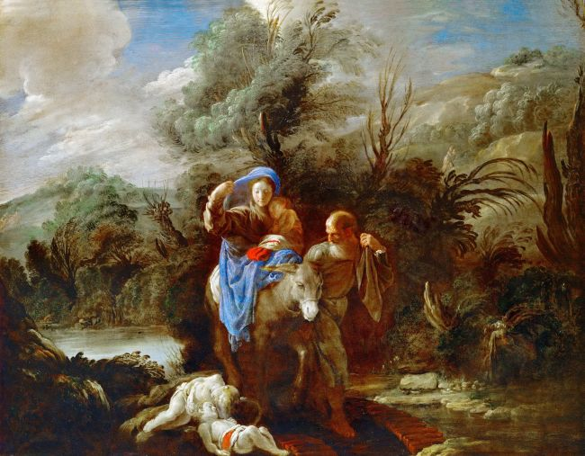 Flight into Egypt | Domenico Fetti | oil painting