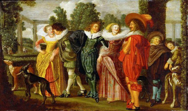 Stroll in the Garden | Dirck Hals | oil painting