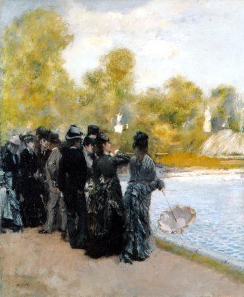 Pond in the Luxembourg Gardens | Giuseppe de Nittis | oil painting