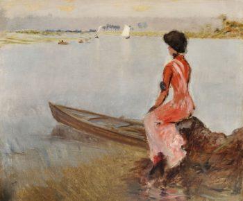 On the Lake | Giuseppe de Nittis | oil painting