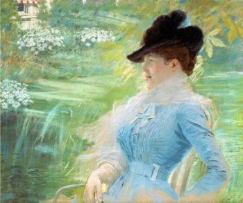 Lady in the Garden | Giuseppe de Nittis | oil painting