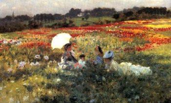 In the Fields | Giuseppe de Nittis | oil painting