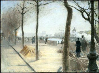 Along the Seine | Giuseppe de Nittis | oil painting