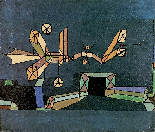 Arrival of the Air Dragon | Paul Klee | oil painting