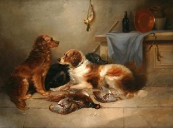 After the Hunt | George Armfield | oil painting