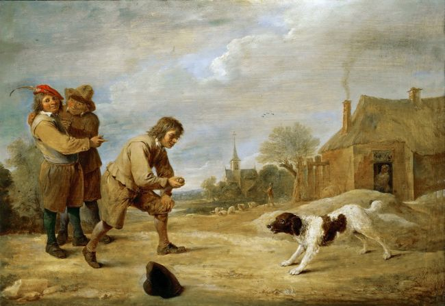 Farmboy with a Dog | David Teniers II | oil painting