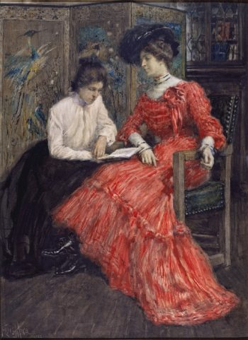 Mrs F Luis Mora and Her Sister | Francis Luis Mora | oil painting