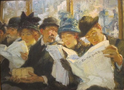 Morning News | Francis Luis Mora | oil painting