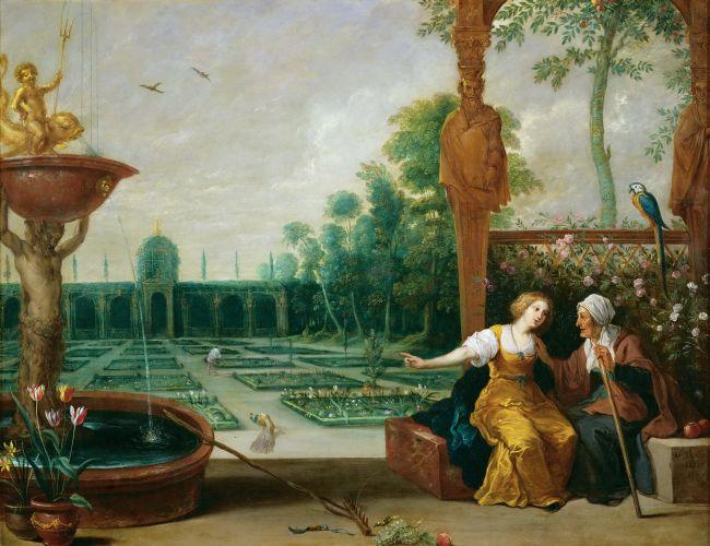 Vertumnus and Pomona | David Teniers I | oil painting