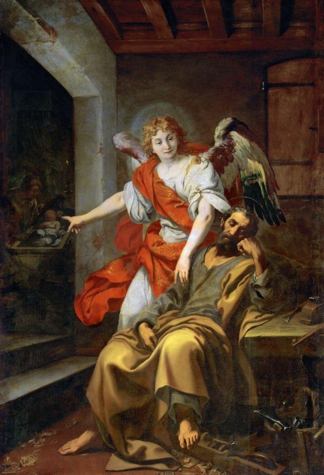 Dream of Saint Joseph | Daniele Crespi | oil painting