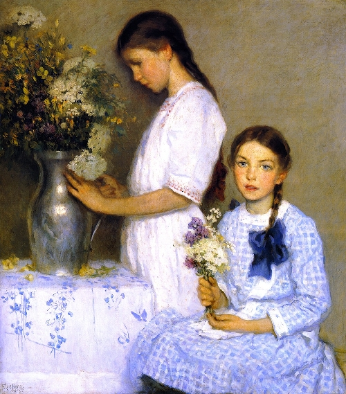 Flowers of the Field   Francis Luis Mora   oil painting