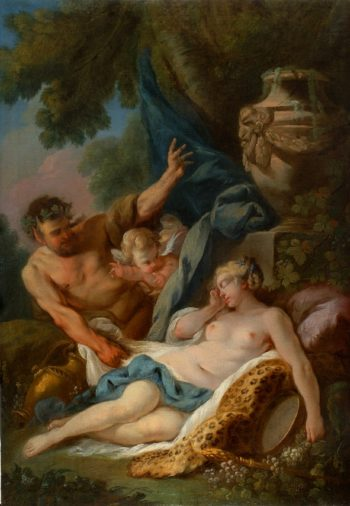 Jupiter and Antiope I   Charles Michel Ange Challe   oil painting
