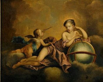 Allegory of Astronomy   Charles Michel Ange Challe   oil painting