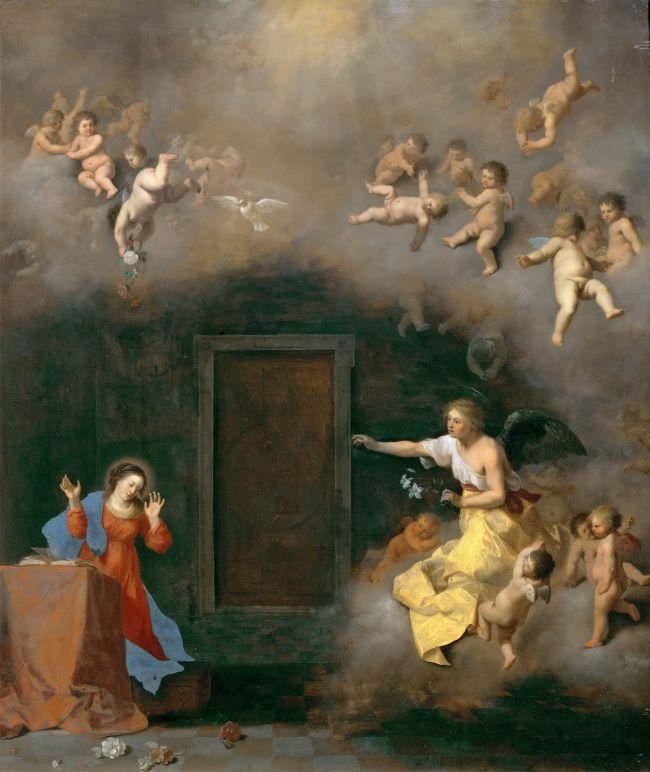 Annunciation | Cornelis van Poelenburgh | oil painting