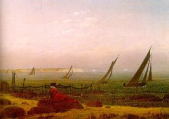Woman at the sea on Rugen (1818) | Caspar David Friedrich | oil painting