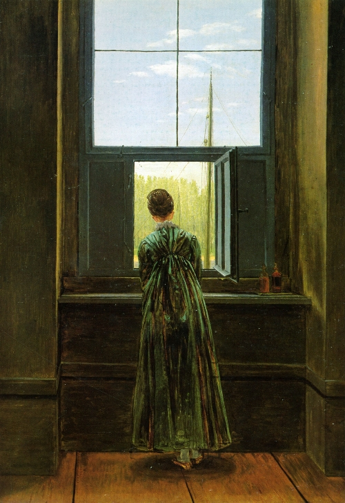 Woman at a Window (1822) | Caspar David Friedrich | oil painting