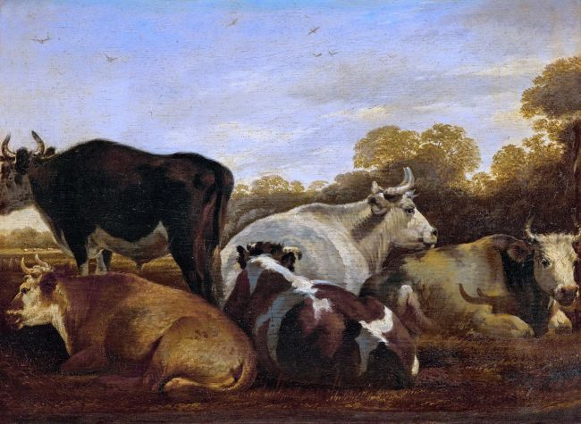 Cows   Cornelis Saftleven   oil painting