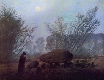 Walk in the Abenddammerung (1837-40) | Caspar David Friedrich | oil painting