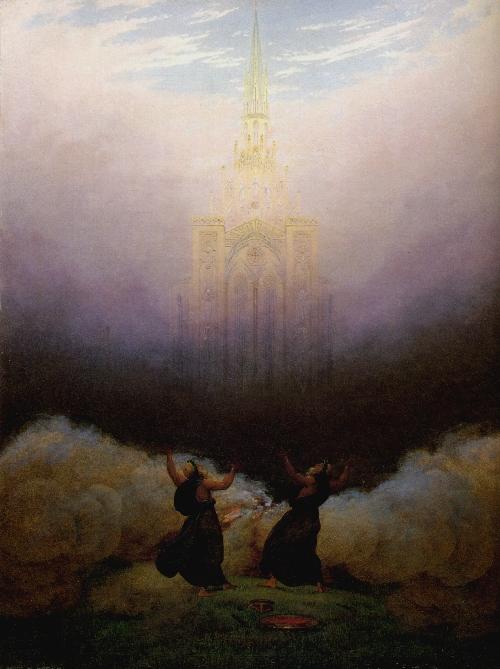 Vision Christian Church (1814) | Caspar David Friedrich | oil painting