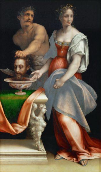 Salome with the Head of John the Baptist   Cesare da Sesto   oil painting