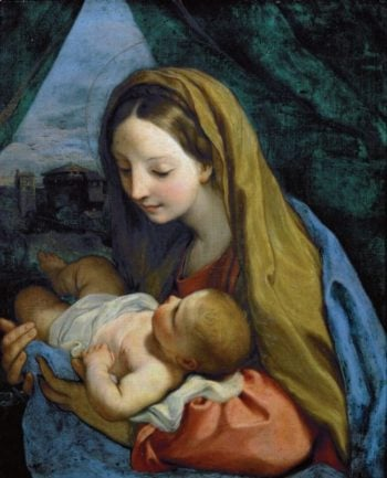 Madonna and Child with infant John the Baptist | Carlo Maratti | oil painting