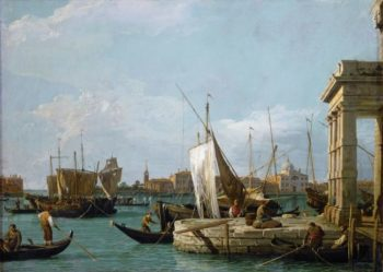 The Dogana in Venice | Canaletto | oil painting