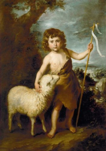 Young John the Baptist | Bartolome Esteban Murillo | oil painting