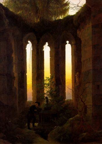 Tomb of Ulrich von Hutten (1824) | Caspar David Friedrich | oil painting