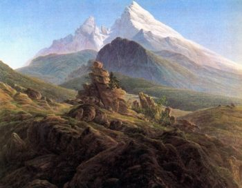 The Watzmann (1824-25) | Caspar David Friedrich | oil painting