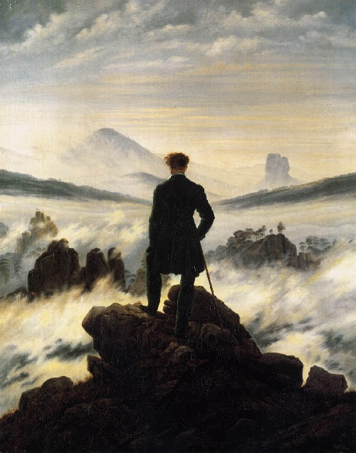 The Wanderer above the Mists (1817-1818) | Caspar David Friedrich | oil painting