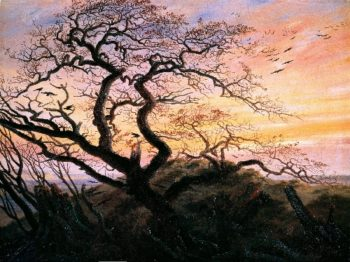 The Tree of Crows (1822) | Caspar David Friedrich | oil painting