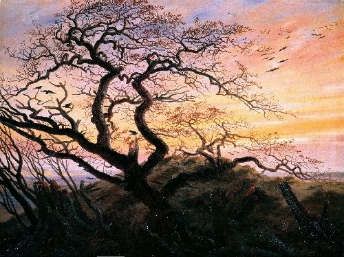 The Tree of Crows (1822) | Caspar David Friedrich | oil painting
