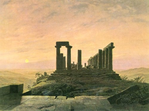 The Temple of Juno in Agrigento (1828-30) | Caspar David Friedrich | oil painting