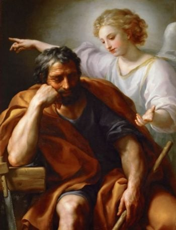 Dream of Saint Joseph | Anton Raphael Mengs | oil painting
