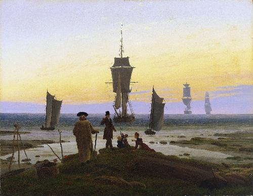 The Stages of Life (beach picture beach scene in Wiek) (1833) | Caspar David Friedrich | oil painting