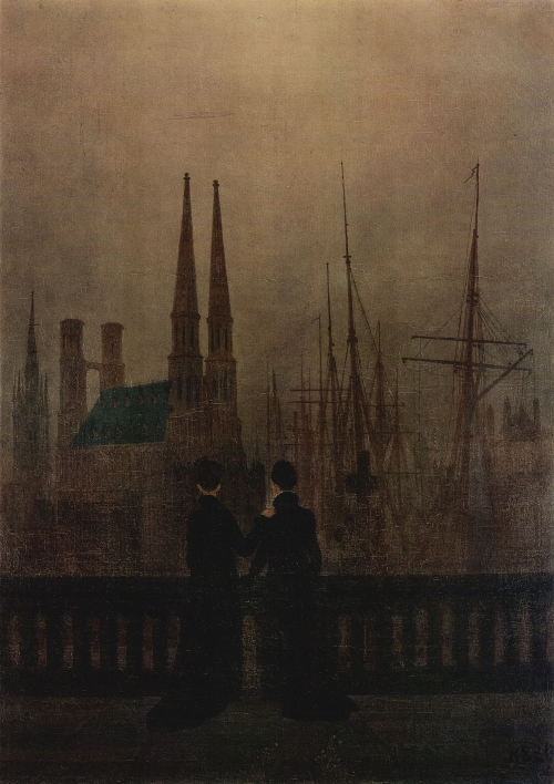 The Sisters on the Balcony (1820) | Caspar David Friedrich | oil painting